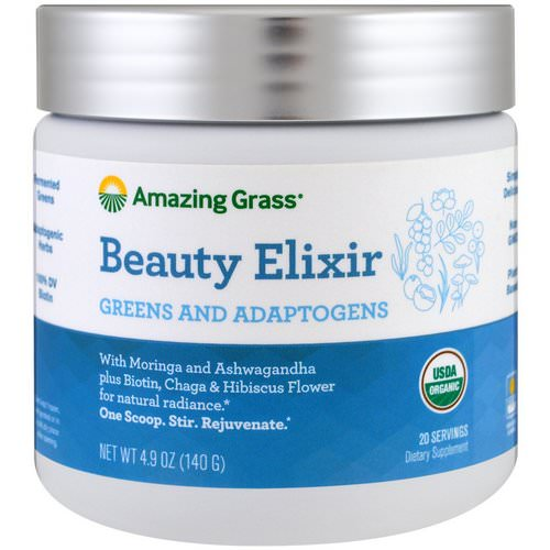 Amazing Grass, Beauty Elixir, Greens And Adaptogens, 4.9 oz (140 g) Review