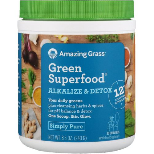 Amazing Grass, Green Superfood, Alkalize & Detox, 8.5 oz (240 g) Review