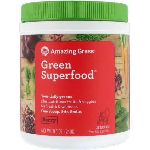 Amazing Grass, Green Superfood, Berry, 8.5 oz (240 g) Review