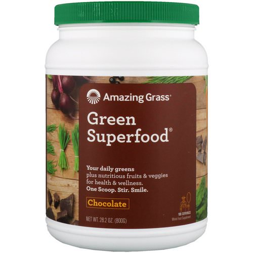 Amazing Grass, Green Superfood, Chocolate, 28.2 oz (800 g) Review