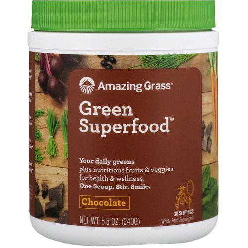 Amazing Grass, Green Superfood, Chocolate, 8.5 oz (240 g) Review