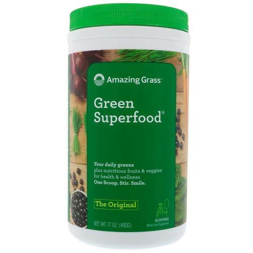 Amazing Grass, Green Superfood The Original, 17 oz (480 g) Review