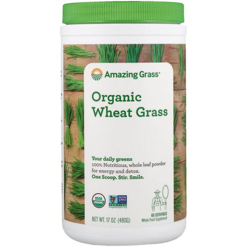 Amazing Grass, Organic Wheat Grass, 17 oz (480 g) Review