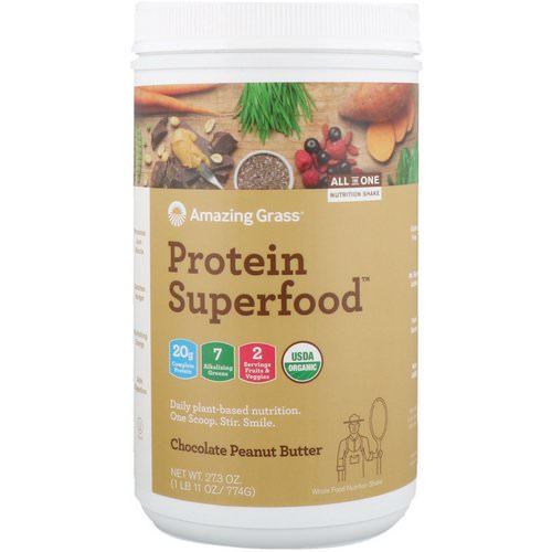 Amazing Grass, Protein Superfood, Chocolate Peanut Butter, 1.7 lbs (774 g) Review