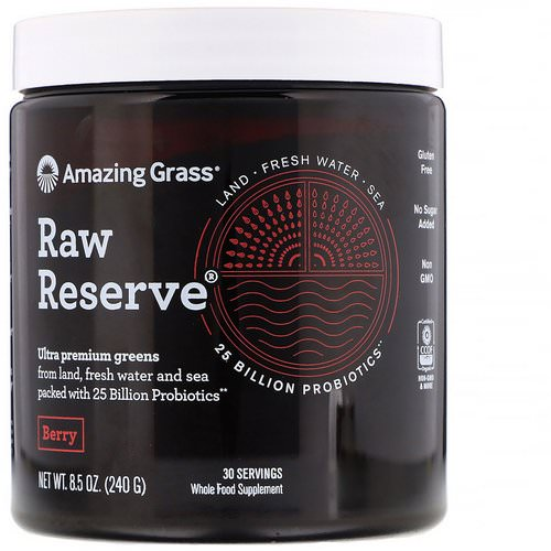 Amazing Grass, Raw Reserve, Ultra Premium Greens, Berry, 8.5 oz (240 g) Review
