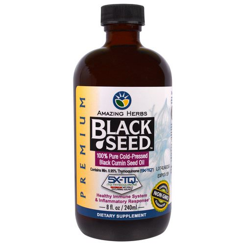 Amazing Herbs, Black Seed, 100% Pure Cold-Pressed Black Cumin Seed Oil, 8 fl oz (240 ml) Review