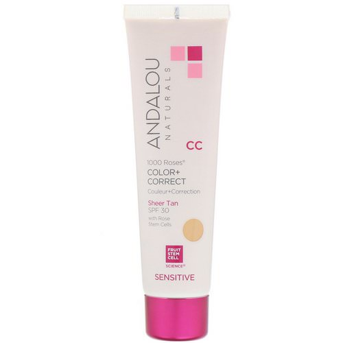 Andalou Naturals, CC 1000 Roses, Color + Correct, Sensitive, SPF 30, Sheer Tan, 2 fl oz (58 ml) Review