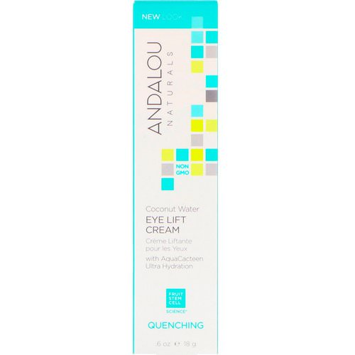 Andalou Naturals, Coconut Water Eye Lift Cream, Quenching, 0.60 fl oz (18 g) Review