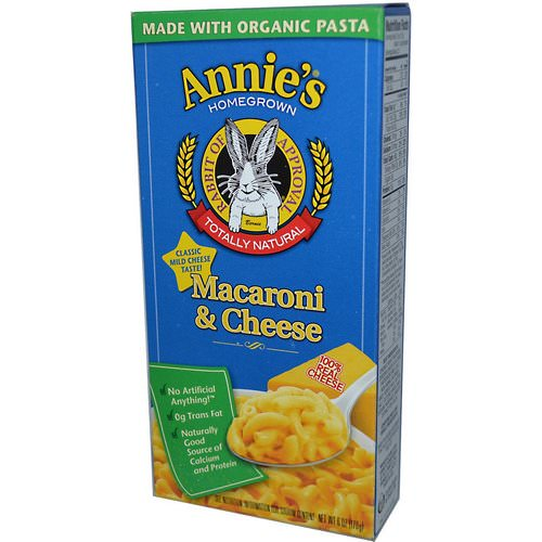 Annie's Homegrown, Macaroni & Cheese, Classic Mild Cheese, 6 oz (170 g) Review