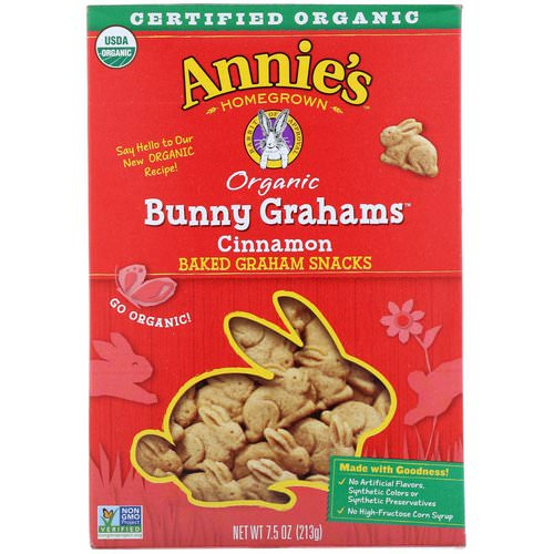 Annie's Homegrown, Organic Bunny Grahams, Cinnamon, 7.5 oz (213 g) Review
