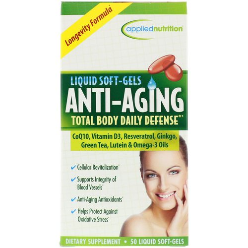 appliednutrition, Anti-Aging Total Body Daily Defense, 50 Liquid Soft-Gels Review