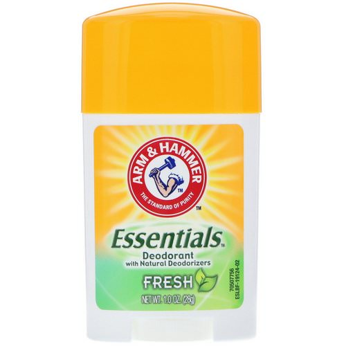 Arm & Hammer, Essentials Natural Deodorant, For Men and Women, Fresh, 1.0 oz (28 g) Review