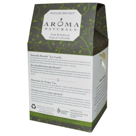 蠟燭, 家庭香水: Aroma Naturals, Naturally Blended, Pillar Candle, Meditation, Patchouli & Frankincense, 3