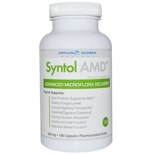 Arthur Andrew Medical, Syntol AMD, Advanced Microflora Delivery, 500 mg, 180 Capsules Review