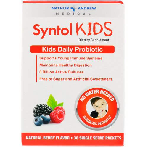 Arthur Andrew Medical, Syntol Kids, Kids Daily Probiotic, Natural Berry Flavor, 30 Single Serve Packets Review