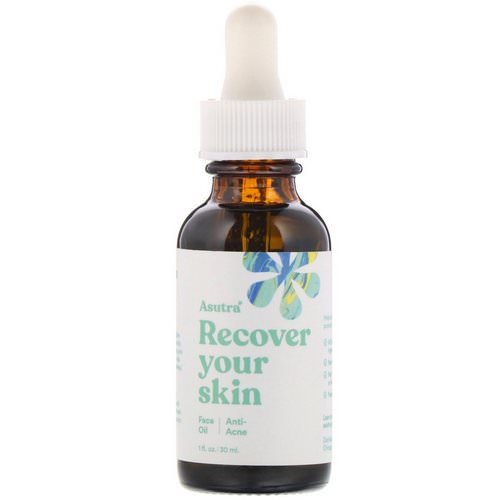 Asutra, Recover Your Skin, Anti-Acne, Face Oil, 1 fl oz (30 ml) Review