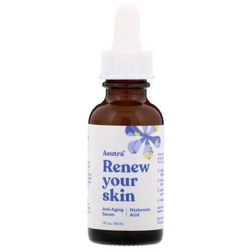 Asutra, Renew Your Skin, Anti-Aging Serum, Hyaluronic Acid, 1 fl oz (30 ml) Review