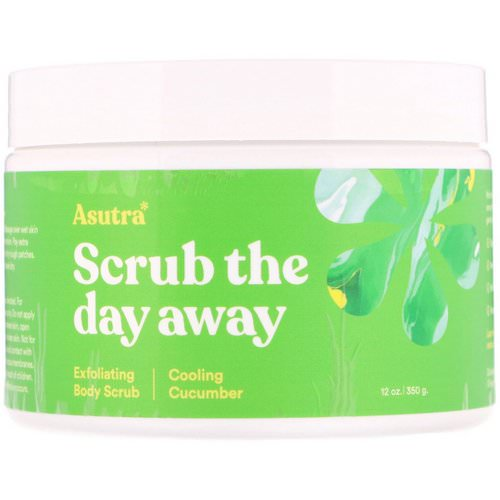Asutra, Scrub The Day Away, Exfoliating Body Scrub, Cooling Cucumber, 12 oz (350 g) Review