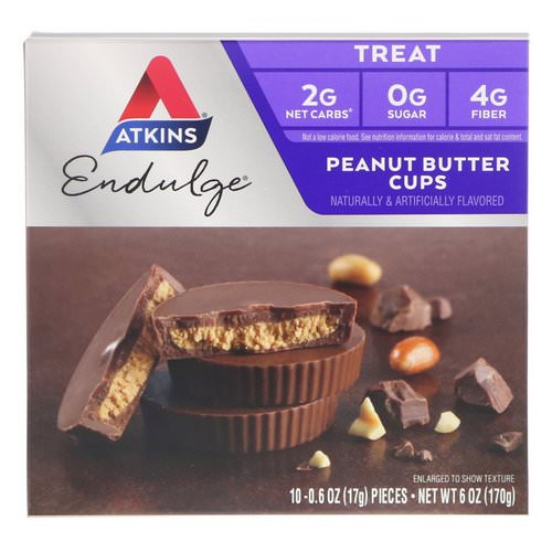 Atkins, Endulge, Peanut Butter Cups, 5 Packs, 1.2 oz (34 g) Each Review