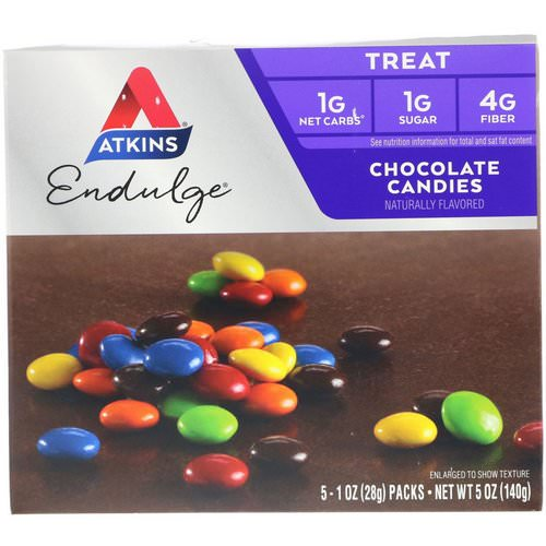 Atkins, Endulge, Chocolate Candies, 5 Packs, 1 oz (28 g) Each Review