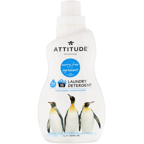 ATTITUDE, Laundry Detergent, Wildflowers, 33.8 fl oz (1 l) Review