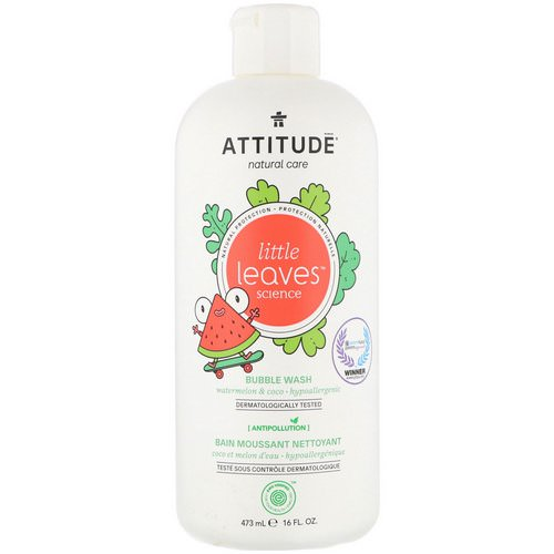 ATTITUDE, Little Leaves Science, Bubble Wash, Watermelon & Coco, 16 fl oz (473 ml) Review