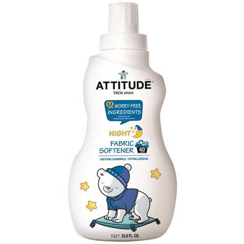 ATTITUDE, Little Ones, Fabric Softener, Night, Soothing Chamomile, 40 Loads, 33.8 fl oz (1 l) Review