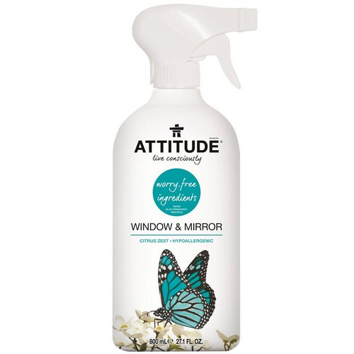 ATTITUDE, Window & Mirror, Citrus Zest, 27.1 fl oz (800 ml) Review