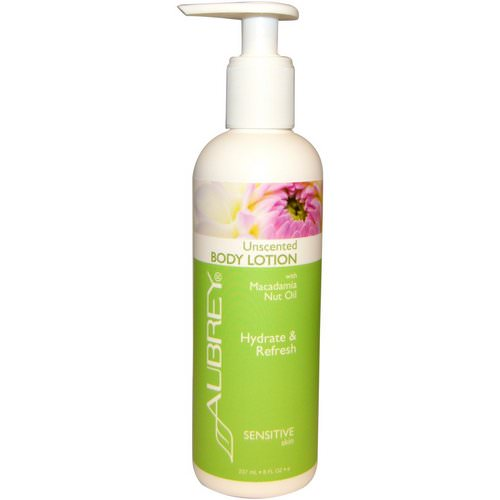 Aubrey Organics, Body Lotion with Macadamia Nut Oil, Unscented, 8 fl oz (237 ml) Review