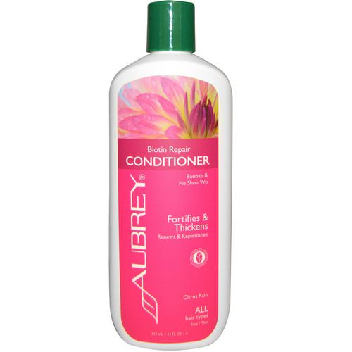 Aubrey Organics, Conditioner, Biotin Repair, Citrus Rain, 11 fl oz (325 ml) Review
