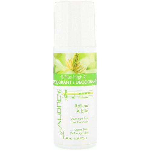 Aubrey Organics, E Plus High C, Natural Roll-On Deodorant, Classic Scent, 3 fl oz (89 ml) Review