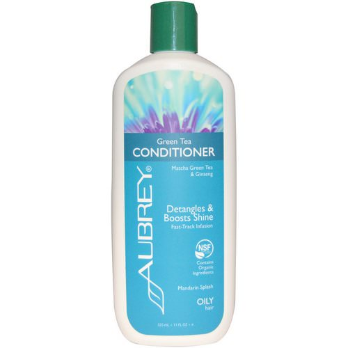 Aubrey Organics, Green Tea Conditioner, Matcha Green Tea & Ginseng, Mandarin Splash, 11 fl oz (325 ml) Review