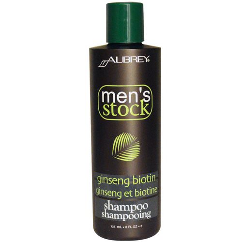 Aubrey Organics, Men's Stock, Shampoo, Ginseng Biotin, 8 fl oz (237 ml) Review