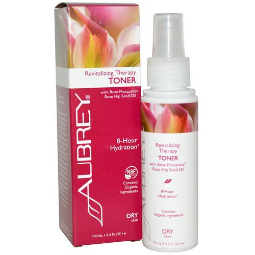 Aubrey Organics, Revitalizing Therapy Toner, Dry Skin, 3.4 fl oz (100 ml) Review