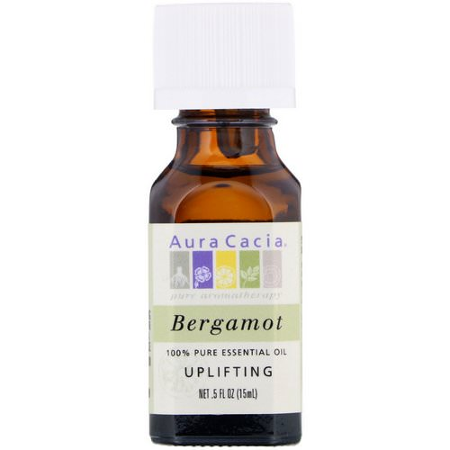 Aura Cacia, 100% Pure Essential Oil, Bergamot, .5 fl oz (15 ml) Review