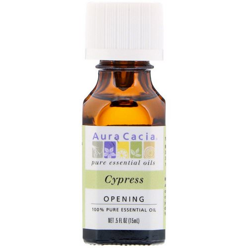 Aura Cacia, 100% Pure Essential Oil, Cypress, .5 fl oz (15 ml) Review