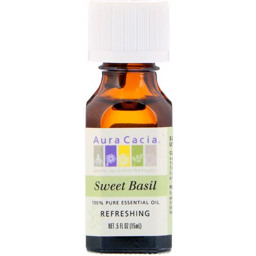 Aura Cacia, 100% Pure Essential Oil, Sweet Basil, .5 fl oz (15 ml) Review