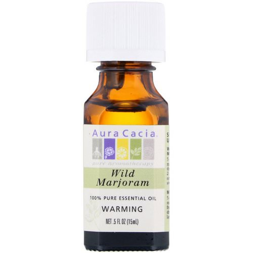Aura Cacia, 100% Pure Essential Oil, Wild Marjoram, .5 fl oz (15 ml) Review