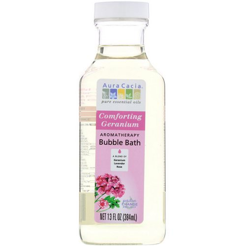Aura Cacia, Aromatherapy Bubble Bath, Comforting Geranium, 13 fl oz (384 ml) Review