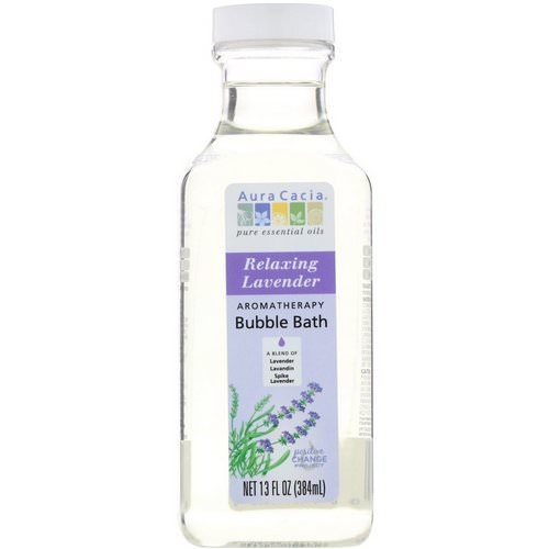Aura Cacia, Aromatherapy Bubble Bath, Relaxing Lavender, 13 fl oz (384 ml) Review