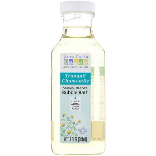 Aura Cacia, Aromatherapy Bubble Bath, Tranquil Chamomile, 13 fl oz (384 ml) Review