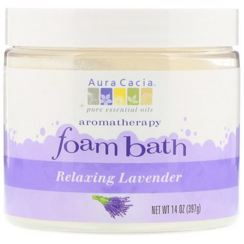 Aura Cacia, Aromatherapy Foam Bath, Relaxing Lavender, 14 oz (397 g) Review