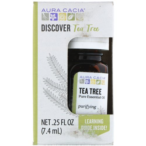 Aura Cacia, Discover Tea Tree, Pure Essential Oil, .25 fl oz (7.4 ml) Review