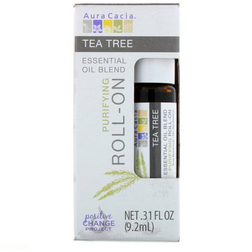 Aura Cacia, Essential Oil Blend, Purifying Roll-On, Tea Tree, .31 fl oz (9.2 ml) Review
