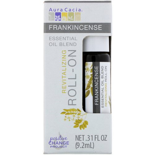 Aura Cacia, Essential Oil Blend, Revitalizing Roll-On, Frankincense, .31 fl oz (9.2 ml) Review