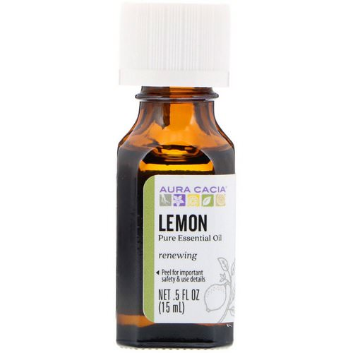 Aura Cacia, Pure Essential Oil, Lemon, .5 fl oz (15 ml) Review