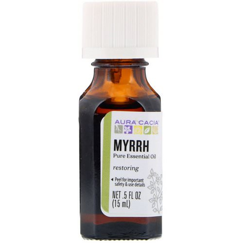 Aura Cacia, Pure Essential Oil, Myrrh, .5 fl oz (15 ml) Review
