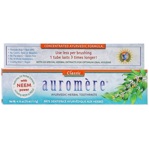 Auromere, Ayurvedic Herbal Toothpaste, Classic, 4.16 oz (117 g) Review