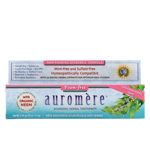 Auromere, Ayurvedic Herbal Toothpaste, Foam-Free, Cardamom-Fennel Flavor, 4.16 oz (117 g) Review