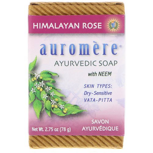 Auromere, Ayurvedic Soap, With Neem, Himalayan Rose, 2.75 oz (78 g) Review